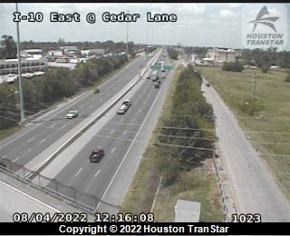 I10 East at Magnolia, Houston Traffic Cam