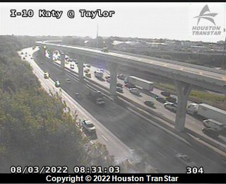 I10 Katy at Taylor, Houston Traffic Cam