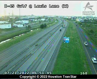 IH-45 Gulf at LEWIS LANE (W)