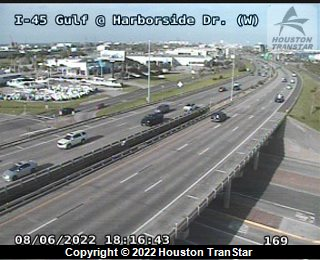IH-45 Gulf at HARBORSIDE DR (W)