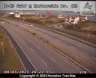 IH-45 Gulf at HARBORSIDE DR (E)