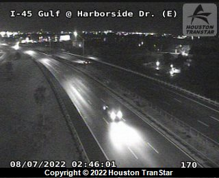 IH-45 Gulf at HARBORSIDE DR (E)