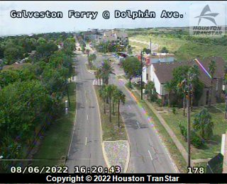Galveston Ferry at Dolphin Ave